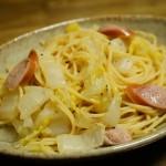 レンジで簡単!白菜とウインナーのコンソメパスタレシピ