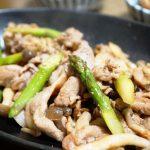 豚こま肉とアスパラのバタポン炒め クックパッド人気レシピ